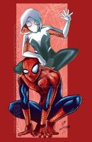 Spidey and Gwen COLOR by dekarogue
