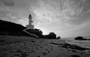 The Lighthouse bw by DanielleMiner