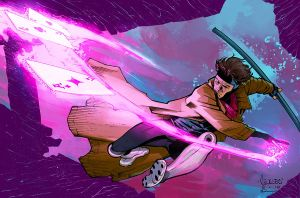 Gambit color commission by SpicerColor