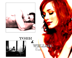 Wellsie and Tohr Wallpaper by kisalina