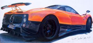 PAGANI ZONDA ILLUSTRATION by patricio-automotive