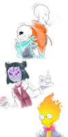 Underswap Sketches by owoSesameowo