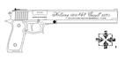 Hellsing ARMS .454 Casull Auto Lineart by 96blackarrow