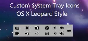 Custom OS X System tray Icons by asilaydyingdl