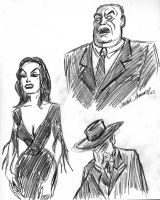 PLAN 9 FROM OUTER SPACE sketches by javierhernandez
