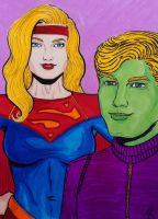 Supergirl and Brainiac 5 by seanpatrick76