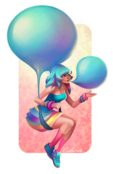 OUAM: Blue Bubblegum Balloons by loish