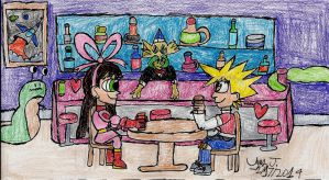 DU Challenge-Valentine's Day at The Rusty Rocket by Urvy1A