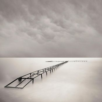 Pier on the clouds by taykut