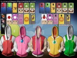 Super Mario Hoodies 2 + Phone Cases by lumpyhippo