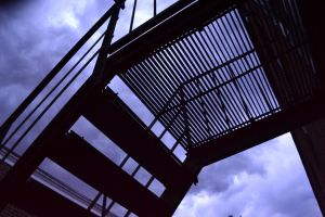 Stairs in Silhouette by One-White-Rose