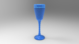 Fluted cut glass goblet by Tate27kh