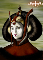 Queen Amidala Speed Paint by Hazey1988