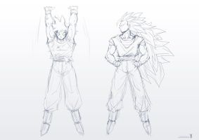 Goku Commission Sketches by moxie2D