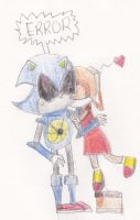 Cream and Metal Sonic by QueenIntrovert