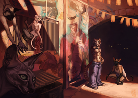 Alley cats by Blackpassion777