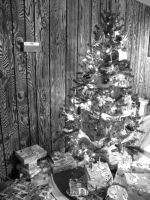 Christmas, Black and White by fallenninjaangel