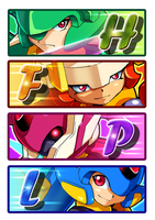 Mega Men by ultimatemaverickx
