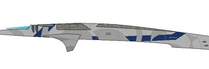 Mass Effect Salarian Assault Cruiser by Seeras
