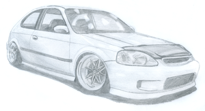 Honda Civic EK Hatch by Danchix