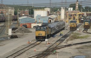 Working on the CSX Business Train by JamesT4