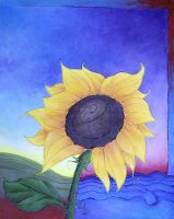 Sunflower in Spring and Summer by NittyGritty71