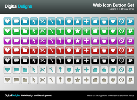 Free Web Icon Buttons by digitaldelightuk