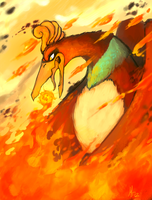 Ho-Oh: The fiery guardian of the skies. by Morthern