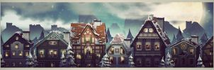 winter houses by nennnnnn