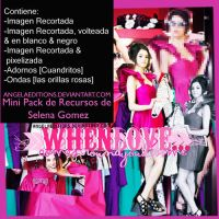 MINI PACK RECURSOS SELENA GOMEZ by AngelaEditions