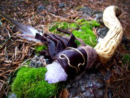 Fairy Green Witch Rosemary Wand by savagedryad
