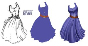 Dress Step by Step by ArsalanKhanArtist