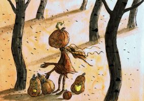 the pumpkin gatherer by mrsorrentino