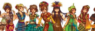 Love Live! - Indonesia Traditional Dances by SmartChocoBear