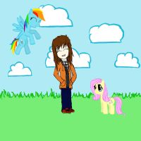 Me, Fluttershy and Dashy by FinnishGirl97