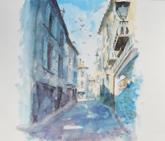 Street sketch Albi by Ardillas