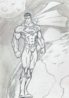 Superman in The Space  Finish by Taj-P