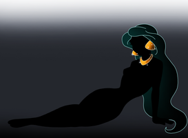 Disney Silhouette: Jasmine by Willemijn1991