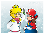 .:Who dares to kiss first?:. by CloTheMarioLover