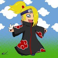 Deidara Chibi by Ruby-The-Ninja