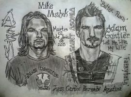 Adam Gontier y Mike Mushok by JCBA