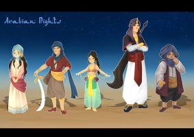 Arabian Nights Lineup by venrin