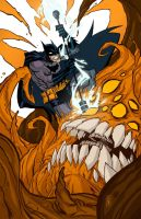 Batman vs. Clayface Colors by jorgeCOR