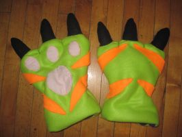 Gatomon Gloves by SethImmortal