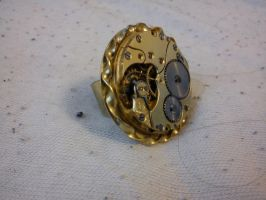 Steampunk clockwork ring by Zarganath