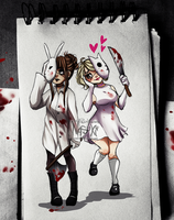 Bloodny and Killty by Nasuki100