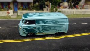 VW Bus with Flames by hankypanky68