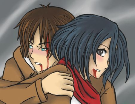 Eren x Mikasa - I want to protect you Mikasa by Enchanted-Wings