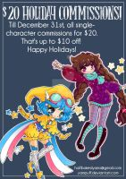 $20 Holiday Commissions by YamPuff