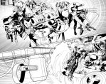 Uncanny Avengers Annual Splash inks by PaulRenaud